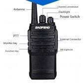 Портативная радиостанция BAOFENG UV-62 (400-480МГц), 1800мАч, 8Вт, ЗУ образцы