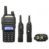 Портативная радиостанция BAOFENG UV-82 ( 136-174/400-520)  МГц/ 128 кан./ 5 Вт/2800 мАч/ЗУ
