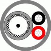Кабель комбинированный для систем видеонаблюдения, Паритет, КВК-В-3ф 2х0 75 белый