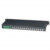 Приемник активный 16 видеосигналов по витой паре, SC T, TPA016A