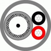 Кабель комбинированный для систем видеонаблюдения, Паритет, КВК-П-3ф 2х0 75 черный