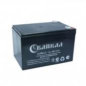 Аккумулятор Байкал-12-12 (12Ач, 12В) свинцово-кислотный, необслуживаемый герметичный