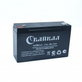 Аккумулятор Байкал-12-6 (12 Ач, 6В) свинцово-кислотный, необслуживаемый герметичный