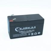 Аккумулятор Байкал-1.3 -12 (1.3Ач, 12В) свинцово-кислотный, необслуживаемый герметичный